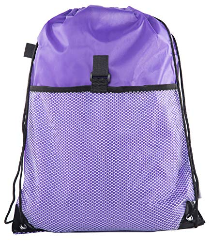 Drawstring Cinch Bag Backpack With Mesh Pocket, Wholesale Drawstring Backpacks ()