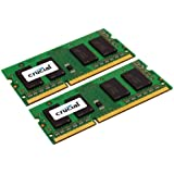 Crucial 8GB Kit (4GBx2) DDR3 1066 MT/s (PC3-8500) CL7 SODIMM 204-Pin Notebook Memory Modules CT2CP51264BC1067