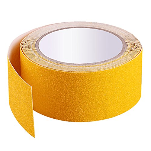 EONBON Yellow Anti Slip Tape, Non Slip Stair Tape, Anti Skid Tape Outdoor , Safety Grip Tape For Steps , Tread Tape - 2 inch x 10 Meter (32.8 Feet) by EONBON (Image #2)