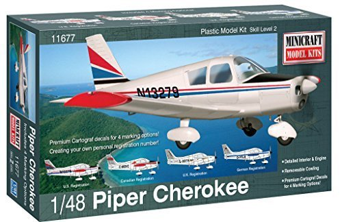 Minicraft Piper Cherokee Airplane Model Kit (1/48 Scale) by Minicraft