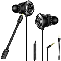 CLAW G11 Dual Driver Gaming Earphones with Dual Microphone and 3D Stereo Sound for Mobile Phones, Tablets, PC, Laptop, PS4, Xbox, Nintendo Switch