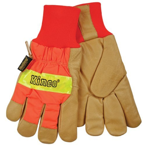 (Getting Fit 35117193864 Kinco 0 Pigskin Knit Wrist Work Gloves, X-Large by KINCO)