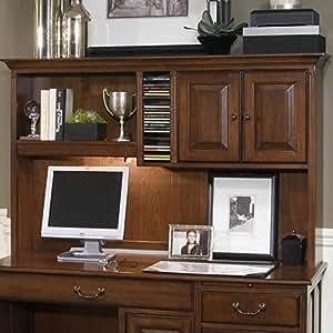 Amazon Com Riverside Furniture Cantata Large Computer Desk Hutch Kitchen Amp Dining