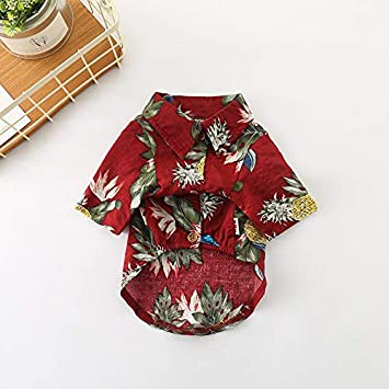 Pet Dog Summer Floral Hawaiian Beach T-Shirt Clothes Puppy Vest Apparel Costumes