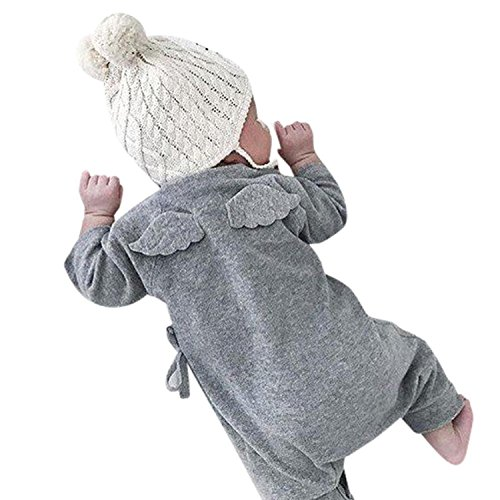 ViWorld Newborn Baby Girl Boy Long Sleeve Cute Wings Romper Jumpsuit Outfit Clothes