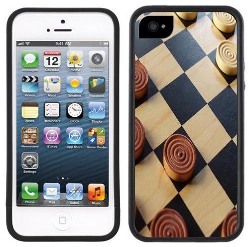 Damespiel | Handgefertigt | iPhone 5 5s | Schwarze Hülle