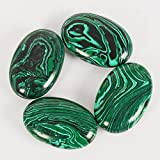 2pcs /lot Natural Massage Stones Malachite Hot Stone for Spa Massage Therapy Hot Spa Rock Balancing Soothing Meditation Reiki or Worry Stones