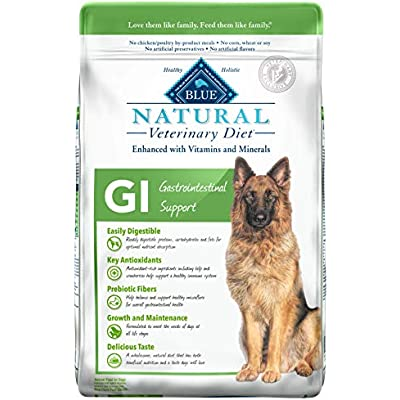 Blue Buffalo Natural Veterinary Diet Gastrointestinal Support for Dogs 22lbs