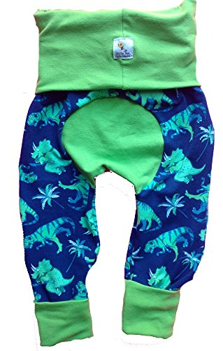 Better Bee Cloth Diapers Maxaloones, Grow with Me Pants, Diaper Pants, Baby Pants,Dinosaurs, Size:Small by Better Bee Cloth Diapers