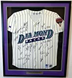 2001 World Series Champions Arizona Diamondbacks Autographed Framed Russell Jersey With 26 Signatures Including Randy Johnson Beckett BAS #A77190