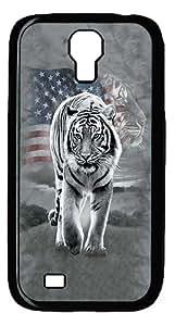 ICORER Diy Samsung Galaxy S4 Case Patriotic Tiger PC Black Case for Samsung Galaxy S4