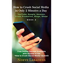 How to Crush Social Media in Only 2 Minutes a Day:: Youtube,  Google, Amazon, Cross Promotion, blogs and Shapr
