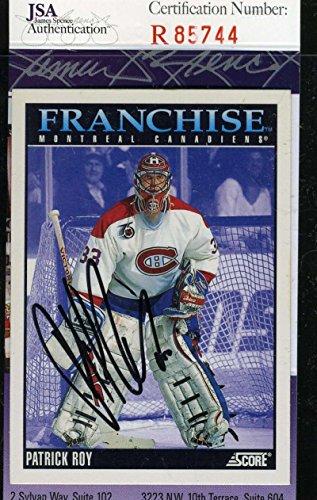 Patrick Roy Hand Signed (PATRICK ROY JSA COA Autographed 1992 SCORE Authentic Hand Signed)