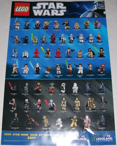 2011 Legoland Lego Star Wars Days Minifigure Poster - Lego Star Wars Poster