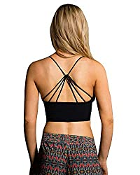 Onzie Seamless Strappy Yoga Sports Bra 334 Black (Black, Mediumlarge)