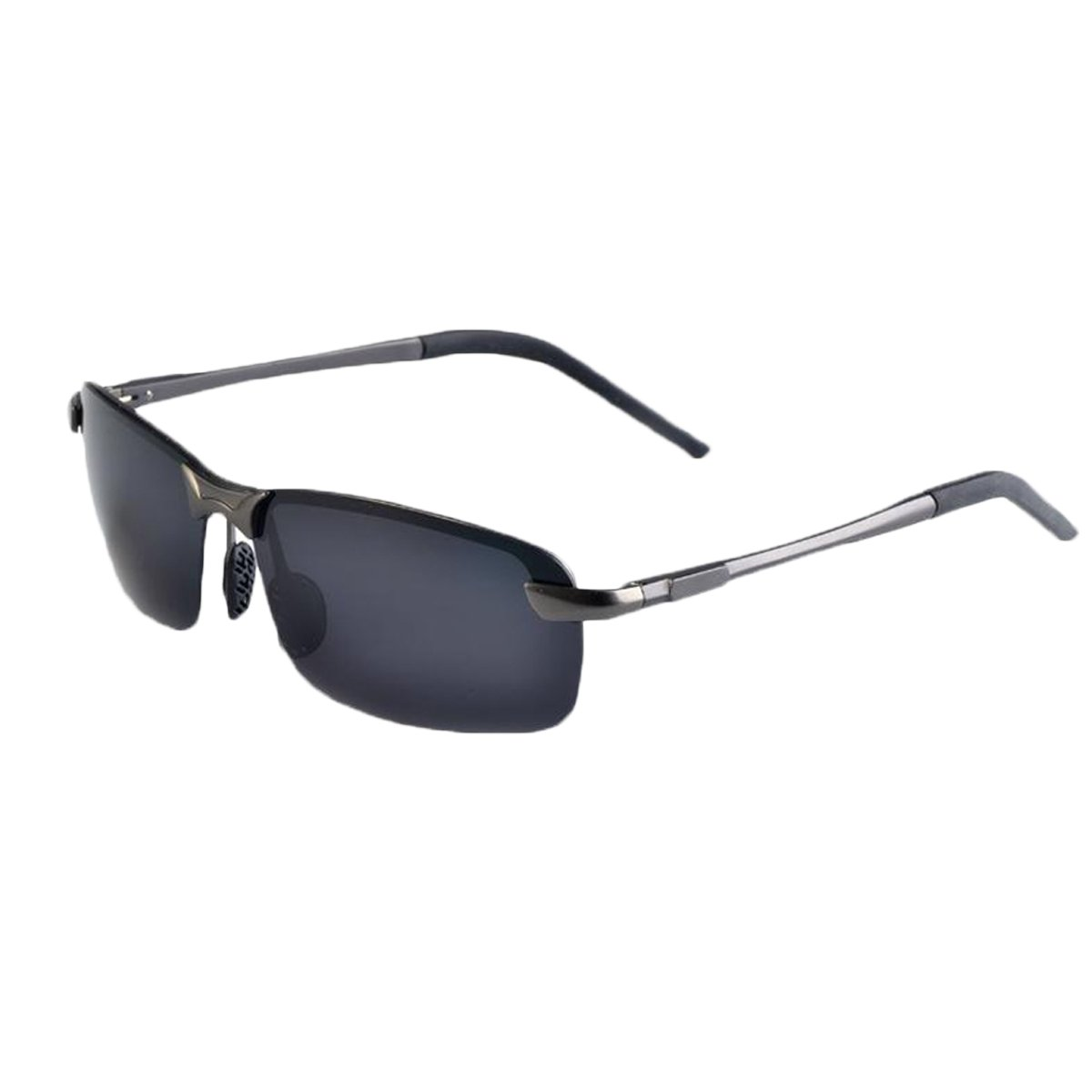 6aaa70717a4 zando anti-reflective coating lens fashion unbreakable half frame men  sunglasses silver-black frame black lens  Amazon.in  Clothing   Accessories