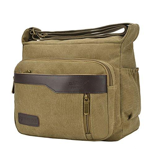 Handbags Purses Canvas Bags Cross Casual Shoulder Khaki Travel Bags Fabuxry Body xXqUzWB