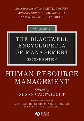 The Blackwell Encyclopedia of Management, Human Resource Management (Blackwell Encyclopaedia of Management) (Volume 5) pdf epub