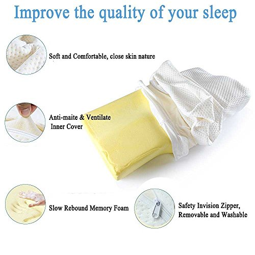 Dream Memory Foam Cervical Contour Pillow Ergonomic Neck