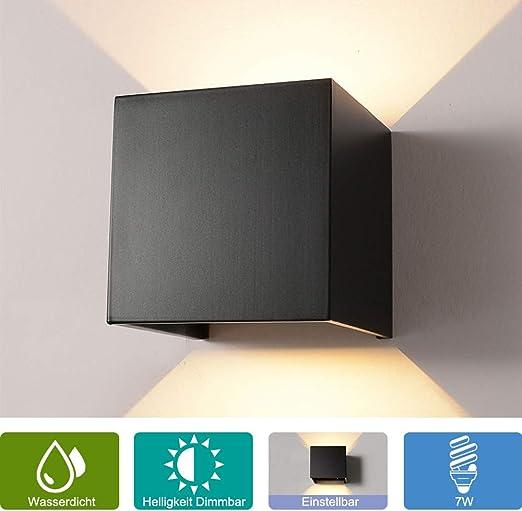 1-14W Dimmbar LED Außen leuchte Led Wandlampe Außen Innen Wandleuchte Dimmbar DE