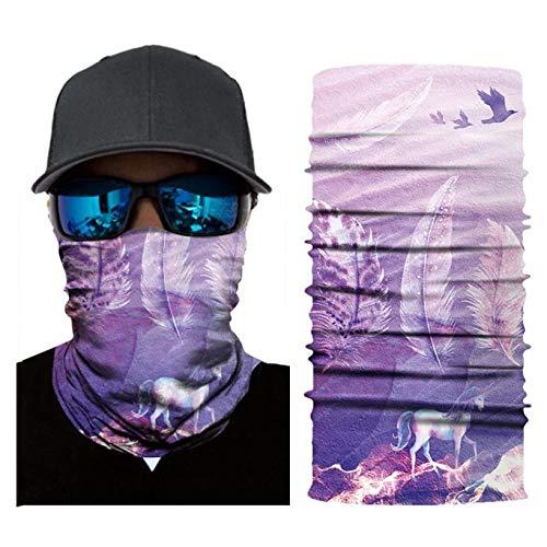 F One Size CUSHY Bandana Cycling Motorcycle Fishing Head Scarf Neck Gaiter Warmer Face Mask Ski Balaclava Headband Mens Face Bandana Headwear