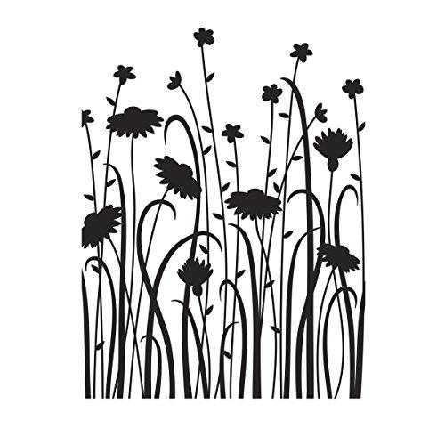 (Darice Wild Flower Field Embossing Folder )