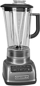 KitchenAid 605599-KSB1575QG KSB1575QG 5-Speed Diamond Blender with 60 oz. Pitcher, Liquid Graphite (Renewed)
