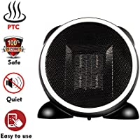 Portable Space Heater, 500 Watt Mini Electric PTC Ceramic Space Heater Warmer, Over Heat Protection, Tilt Protection for Home Office or Indoor, Black