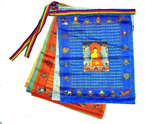 Prayer Flags Satin Large Buddha Tibetan Buddhist Wind Horse