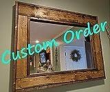 Custom Herringbone Mirror for Bobby- 26''w x 26''h - Ebony Color