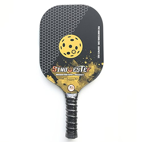 SINOWESTER Promotional Polymer Honeycomb Core | Composite Carbon Fibre Face | SinoSpeed S | USAPA Standard| Outdoor Pickleball Paddle Include Durable Nylon Cover | Best Bat for Beginners & Pro, (Best Polymer International Co Ltd)