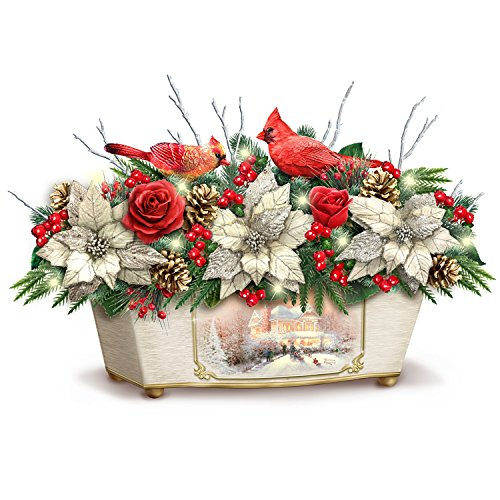 Thomas Kinkade Treasures Of The Season Always In Bloom Holiday Table Centerpiece by The Bradford Exchange