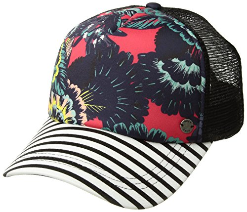 Roxy Junior's Water Come Down Trucker Hat, Rouge Red Mahna Mahna, One Size