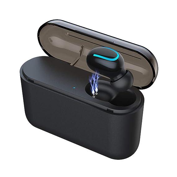 130d98fc666 Eleproof Bluetooth Earpiece, Bluetooth 5.0 Wireless Earbud 100-Hour Playing  Time Mini Single Bluetooth