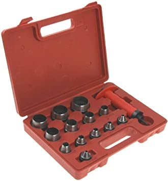 13 in 1 Hollow Punch Set Gaskets Leather Rubber Hole Case Large w// Carrying Case