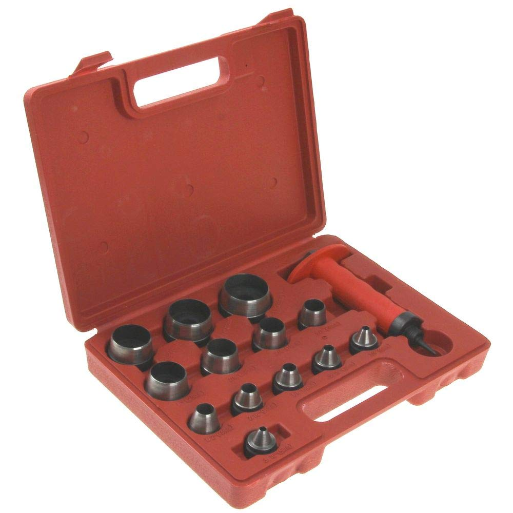 Anytime Tools 13 pc SHARP HOLLOW PUNCH TOOL SET for LEATHER & GASKET 3/16'' - 1-1/4''