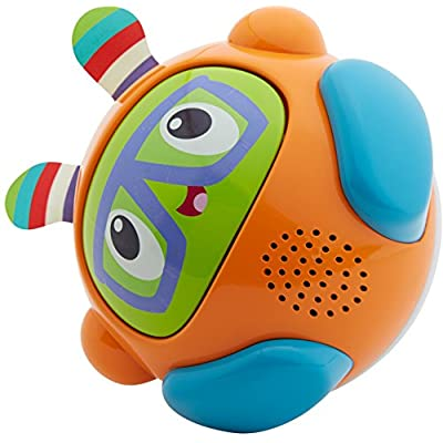 Fisher-Price Bright Spin & Crawl Tumble Franky Beats Ball: Toys & Games
