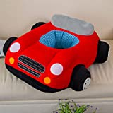 3D Red Plush Sofa Chair Car Toy Cartoon Kids Baby Car Boy Girl Toddlers Gift Sitting-learn Chair Children's Day Festival Birthday Presents for Mom Soft Touch Cute Look Under Age 4