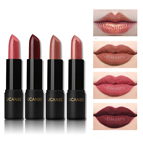 Light Red Matte (UCANBE Shimmer and Matte Red Lipstick Set Long Lasting, 4 pcs)