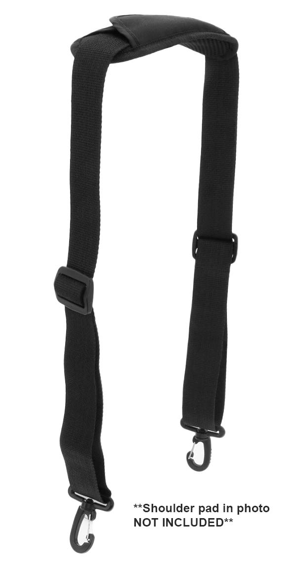 8d500c2d92b4 Made In USA Black Poly Webbing Replacement Travel Luggage Bag Adjustable  Shoulder Strap 1.5