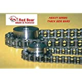 "#60H Riveted Roller Chain 10ft With 2 Connecting Links 3/4"" Pitch"