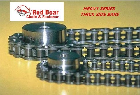 #80H Riveted Roller Chain 10ft With 1 Connecting Link 1
