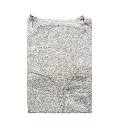 en M Col Basic Gilet Pull Classique V Femme Laine Cardigan HIDOUYAL 7w1K4q81
