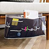 Glin Bedside Caddy, 12 Various Pockets Perfect College Dorm Room Bunk Bed Bedside Organizer,Durable Stable Material Bed Caddy,Large Size Holds Your Laptop,Books,Tablet,Phone More (Beside Caddy)