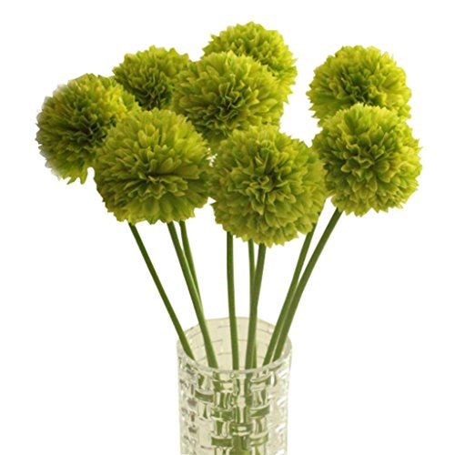 Sunwar(TM) 5pcs Lavender Ball Artificial Silk Flowers Bouquet Home Wedding Party Decor (Green) Soft Green Ball Ornament