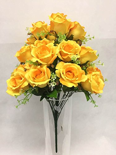 Silk Flower Garden Artificial Rose Bouquet 24 Blooms 23