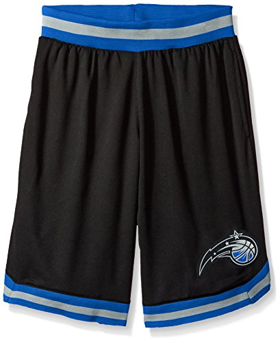 fan products of NBA Men's Orlando Magic Mesh Basketball Shorts Woven Active Basic, Large, Black