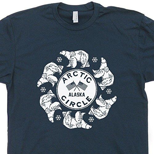 XXXL - Arctic Circle T Shirt Alaska Tee Shirts Polar Bear Colorado Ski Mount Everest Montana North (Alaska Tee)