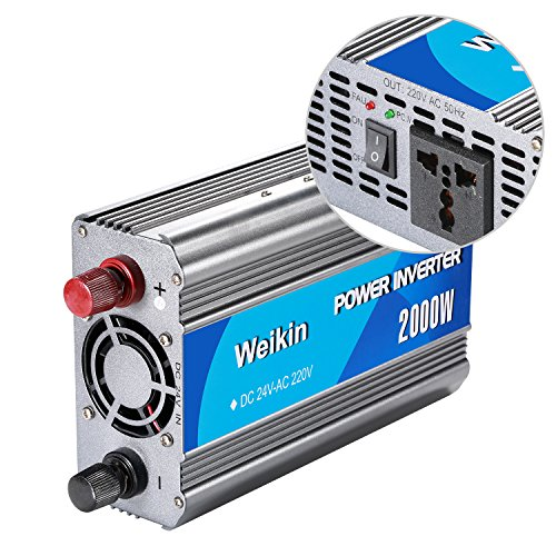 Weikin power inverter 2000 Watt DC 24V to AC 220V 230V 240V volt for home use and solar power system by weikin (Image #2)
