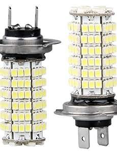 ZQ 2 x bulbo HL7 lámpara de LEDs SMD 3528 120 coches 12v blanco